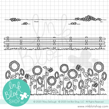 RESERVE Ink Blot Shop Clear Stamp Set FALLISH BORDERS inbl098