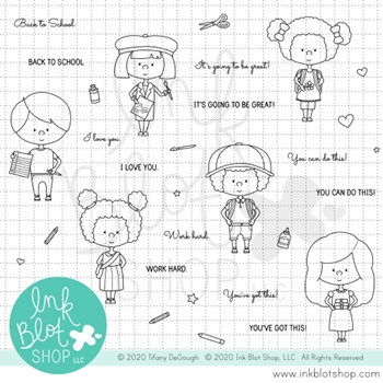 Ink Blot Shop Clear Stamp Set LITTLE SCHOOL inbl102*