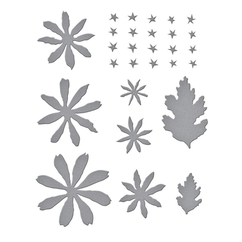 S4-1074 Spellbinders BUTTON AND DAISY CHRYSANTHEMUM Etched Dies Preview Image