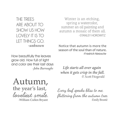 STP-024 Spellbinders AUTUMN QUOTES Clear Stamps  Preview Image