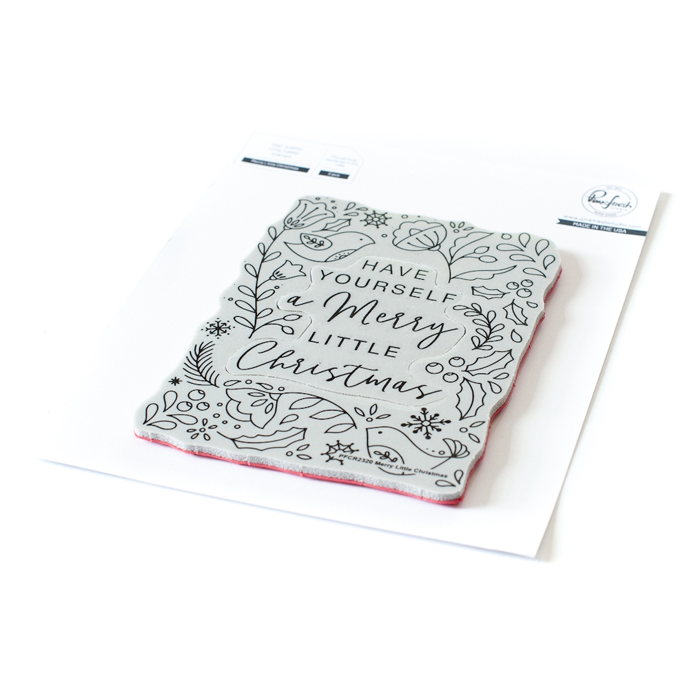PinkFresh Studio MERRY LITTLE CHRISTMAS Cling Stamp pfcr2320 zoom image