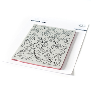 PinkFresh Studio WINTERBERRY BACKGROUND Cling Stamp pfcr2420