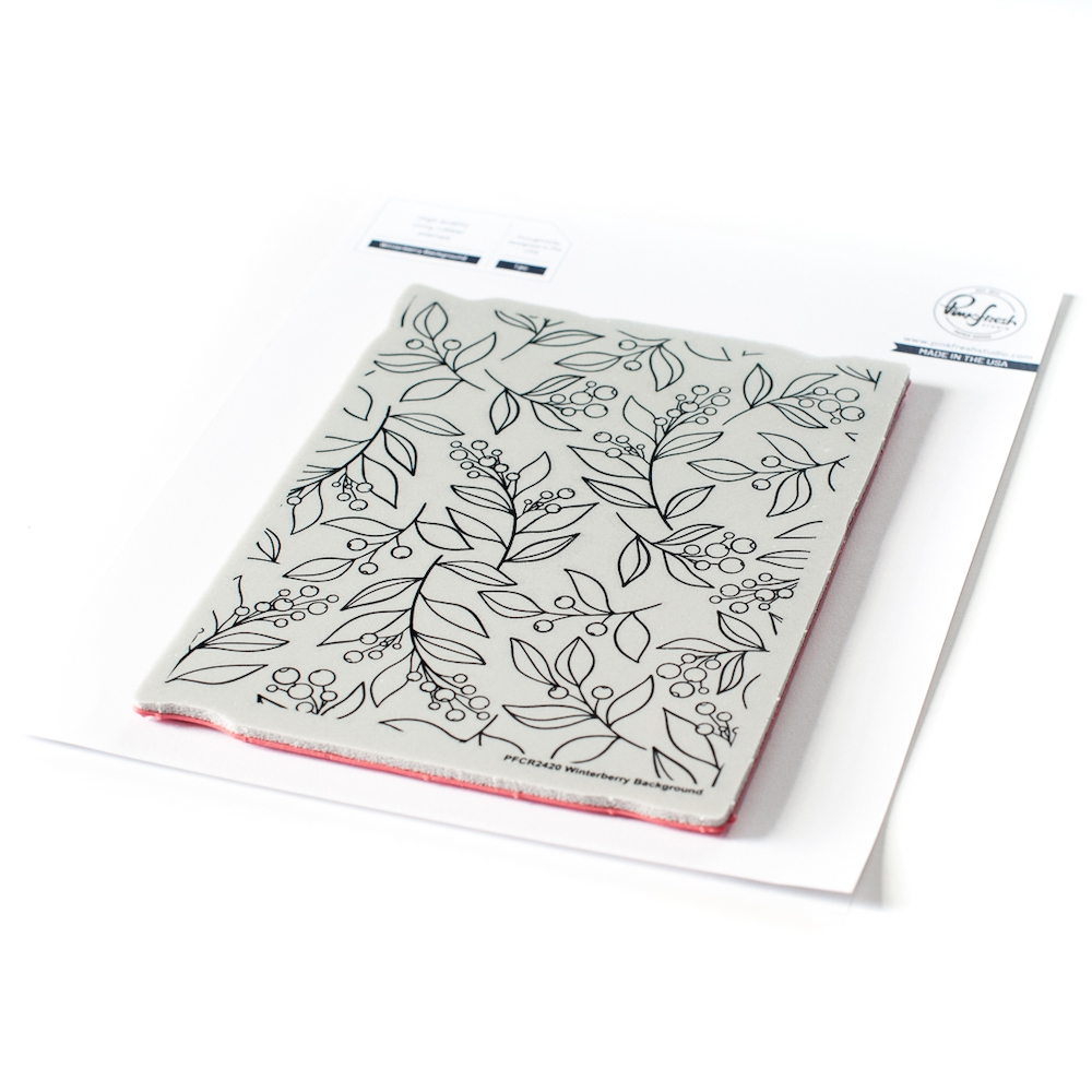 PinkFresh Studio WINTERBERRY BACKGROUND Cling Stamp pfcr2420 zoom image