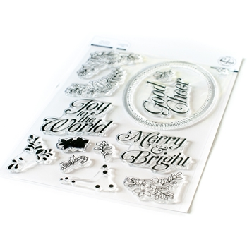 PinkFresh Studio MERRY AND BRIGHT FRAME Clear Stamp pfcs2720