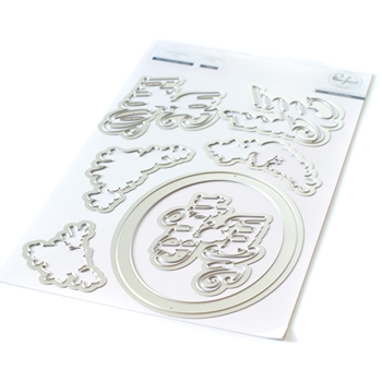 PinkFresh Studio MERRY AND BRIGHT FRAME Die Set pfcc2720