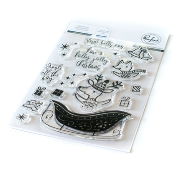PinkFresh Studio SLEIGH BELLS RING Clear Stamp pfcs2920