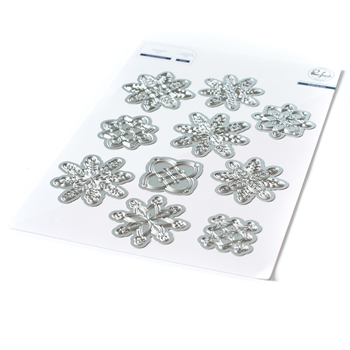PinkFresh Studio LAYERED SNOWFLAKES Die Set pfsa2820