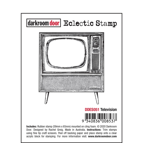 Darkroom Door Cling Stamp TELEVISION Eclectic ddes051 Preview Image