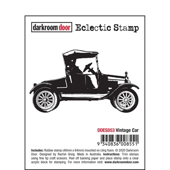 Darkroom Door Cling Stamp VINTAGE CAR Eclectic ddes053