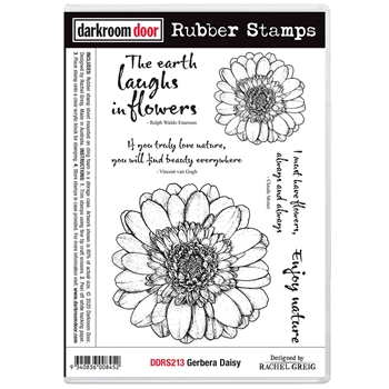 Darkroom Door Cling Stamps GERBERA DAISY ddrs213