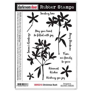 Darkroom Door Cling Stamps CHRISTMAS BUSH ddrs215