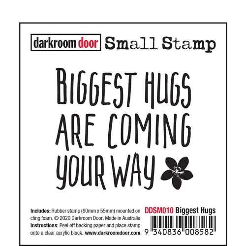 Darkroom Door Cling Stamp BIGGEST HUGS Small ddsm010 Preview Image