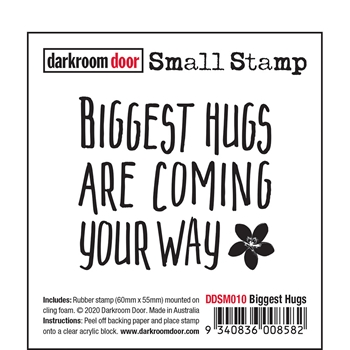 Darkroom Door Cling Stamp BIGGEST HUGS Small ddsm010