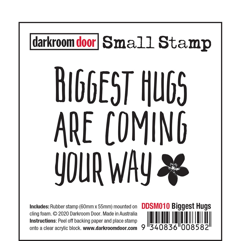 Darkroom Door Cling Stamp BIGGEST HUGS Small ddsm010 zoom image