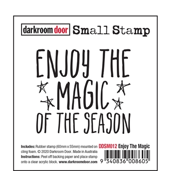 Darkroom Door Cling Stamp ENJOY THE MAGIC Small ddsm012