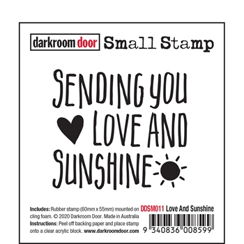 Darkroom Door Cling Stamp LOVE AND SUNSHINE Small ddsm011