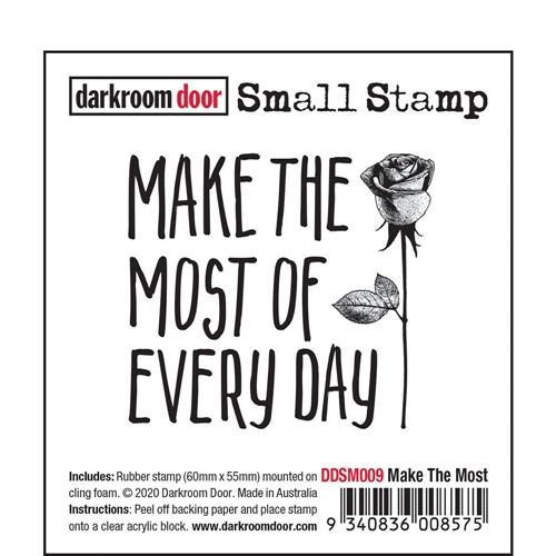 Darkroom Door Cling Stamp MAKE THE MOST Small ddsm009 Preview Image