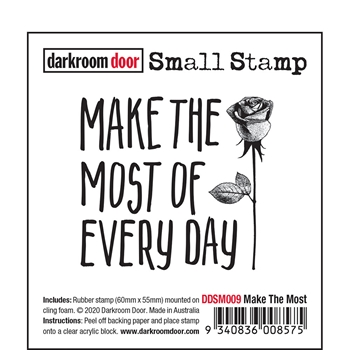 Darkroom Door Cling Stamp MAKE THE MOST Small ddsm009