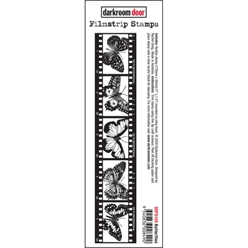 Darkroom Door Cling Stamp BUTTERFLIES Filmstrip ddfs105
