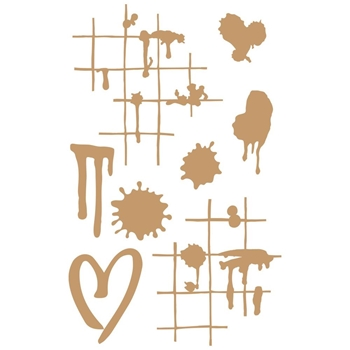 Prima Marketing INK AND SPLATTERS Chipboard Diecuts 647308
