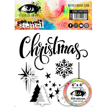 Visible Image ICONIC CHRISTMAS Stencil VIS-ICS-03