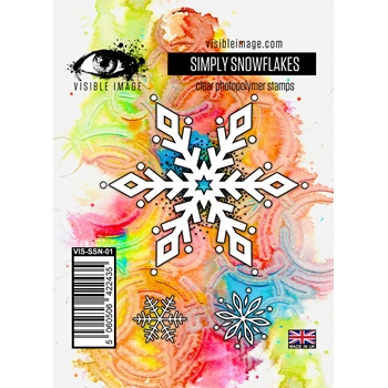 Visible Image SIMPLY SNOWFLAKES Clear Stamp VIS-SSN-01
