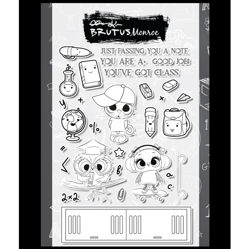Brutus Monroe BACK TO SCHOOL BASH Clear Stamps bru4990 Preview Image