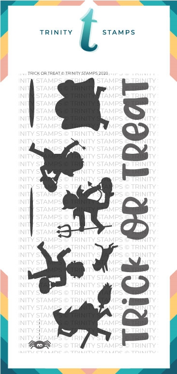 Trinity Stamps TRICK OR TREAT Clear Stamp Set tps071 zoom image