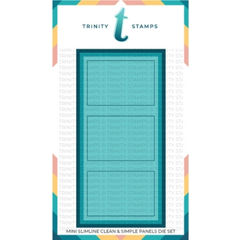 Trinity Stamps CLEAN AND SIMPLE MINI SLIMLINE PANELS Die Set tmd035