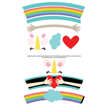 Trinity Stamps MINI COFFEE CUP RAINBOW HUG ADD ON Die Set tmd037