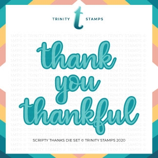 Trinity Stamps SCRIPTY THANKS Die Set tmd039