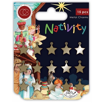 Craft Consortium NATIVITY Star Charms CCMCHRM015
