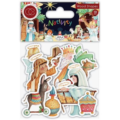 Craft Consortium NATIVITY Wood Shapes CCWDNS010 Preview Image