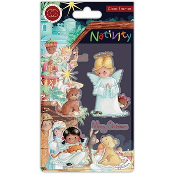 Craft Consortium Nativity ANGELS Clear Stamps CCSTMP050