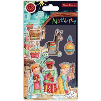 Craft Consortium Nativity THREE WISE MEN Clear Stamps CCSTMP048