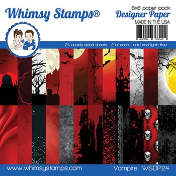 Whimsy Stamps VAMPIRE 6 x 6 Paper Pads WSDP24
