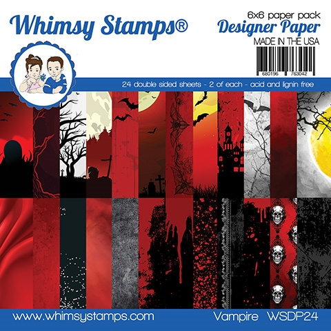 Whimsy Stamps VAMPIRE 6 x 6 Paper Pads WSDP24 zoom image