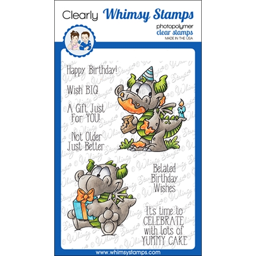Whimsy Stamps BIRFDAY DRAGONS Clear Stamps DP1052 Preview Image
