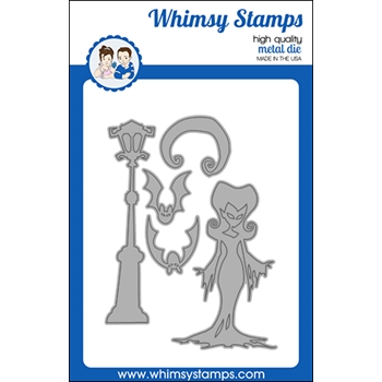 Whimsy Stamps ELVIRA MOONLIGHTING Dies WSD492