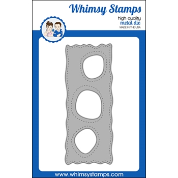 Whimsy Stamps SLIMLINE WOBBLY WINDOWS Die WSD491