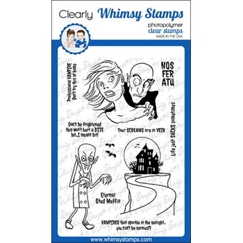 Whimsy Stamps SCREAMS IN VEIN Clear Stamps CWSD344