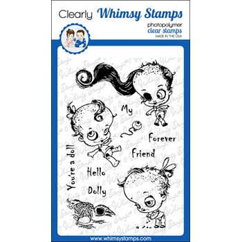 Whimsy Stamps DEAD DOLLY Clear Stamps CWSD343
