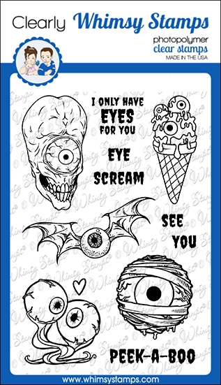 Whimsy Stamps EYE SCREAM Clear Stamps CWSD342 zoom image