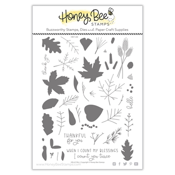 Honey Bee HELLO FALL Clear Stamp Set hbst268