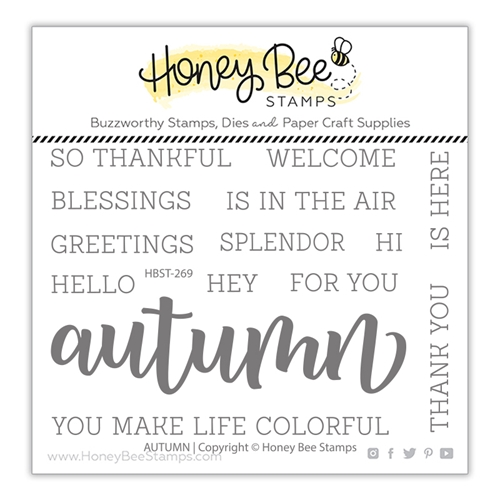 Honey Bee AUTUMN BUZZWORD Clear Stamp Set hbst269 Preview Image