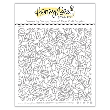 Honey Bee COFFEE BEAN BACKGROUND Clear Stamp Set hbst277