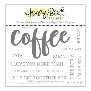 RESERVE Honey Bee COFFEE BUZZWORD Clear Stamp Set hbst278