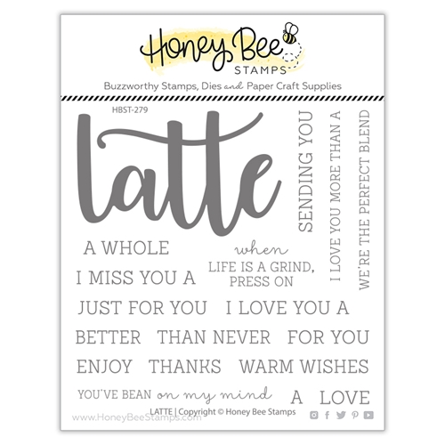 Honey Bee LATTE BUZZWORD Clear Stamp Set hbst279 Preview Image