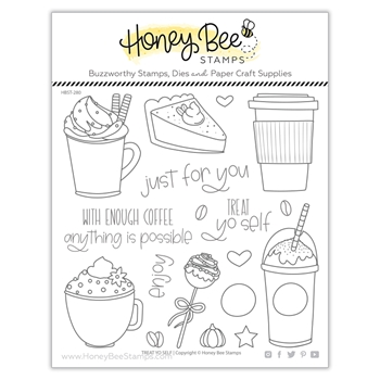 Honey Bee TREAT YO SELF Clear Stamp Set hbst280