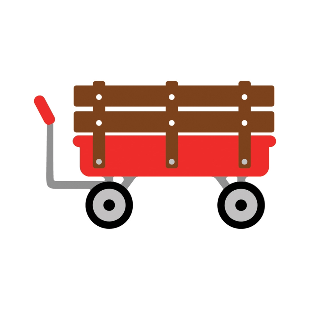 Honey Bee LITTLE RED WAGON Dies hbdslrwn zoom image